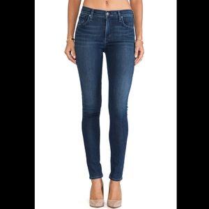 Agolde Sophie High Rise Skinny Jeans Dark Wash